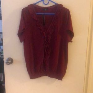 Gorgeous fall blouse in wine